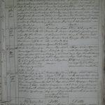 Метрики о рождении Каменского костёла на польском языке (1827)