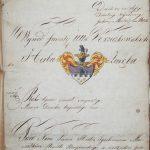 Первый лист дворянского дела 1818